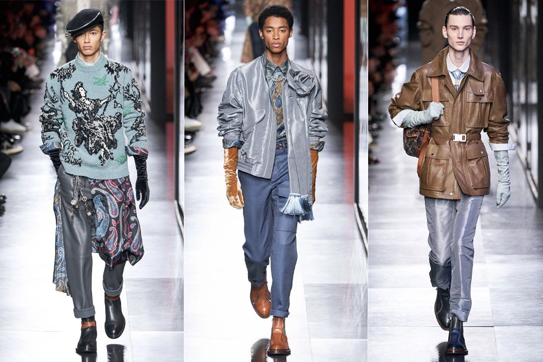 Paris Fashion Week Men's Fall/Winter 2020 Best Shows Louis Vuitton Dior Jacquemus JW Anderson Loewe Sacai Dries Van Noten