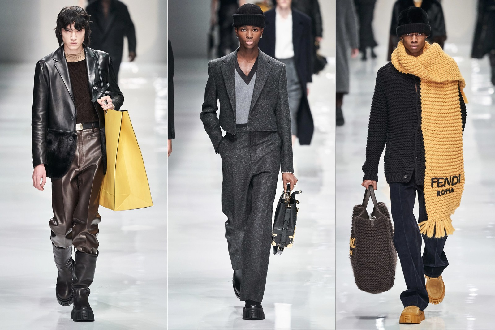 Milan Fashion Week Men's Fall/Winter 2020 Shows Prada Marni Fendi Gucci