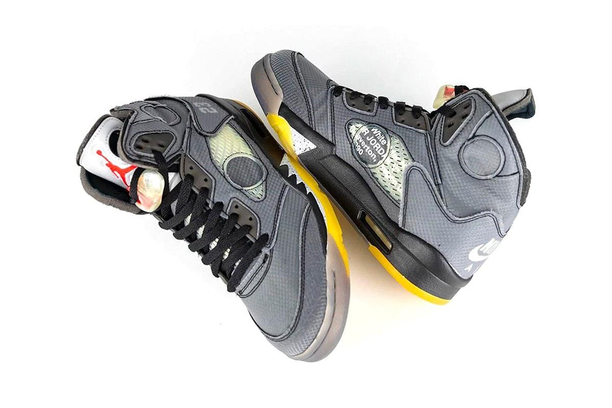 Off-White™ x Nike Air Jordan 5 On-Foot Virgil Abloh