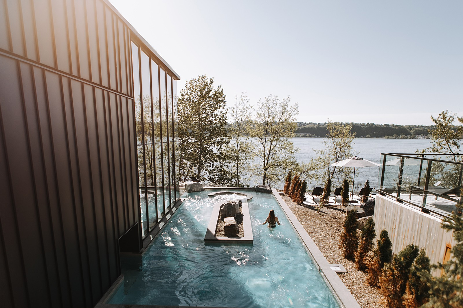 strom nordic spa quebec canada wellness health winter