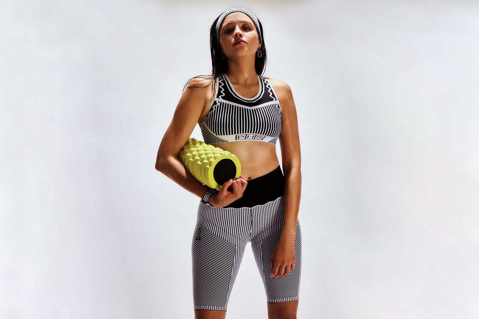 ph5 sustainable activewear line workout gym clothes yoga bridge pose