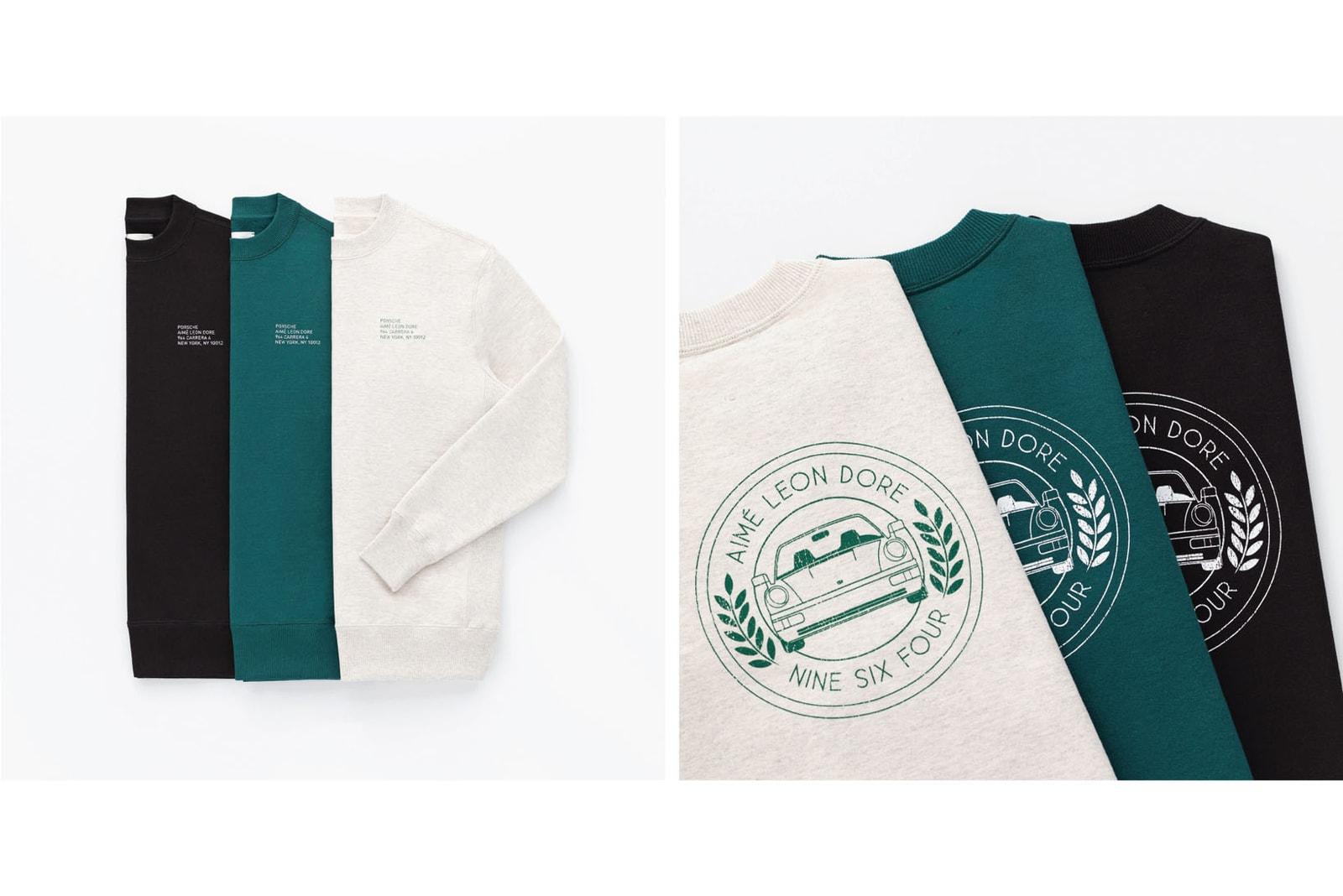 aime leon dore porsche 911 carrera 4 1990 ald 964 capsule loro piana schott hoodies sweatshirts caps cars