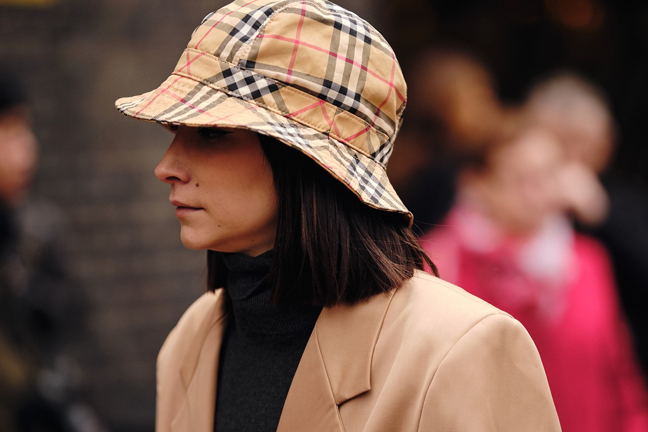 Burberry Bucket Hat Nova Check Vintage London Fashion Week Street Style Accessory