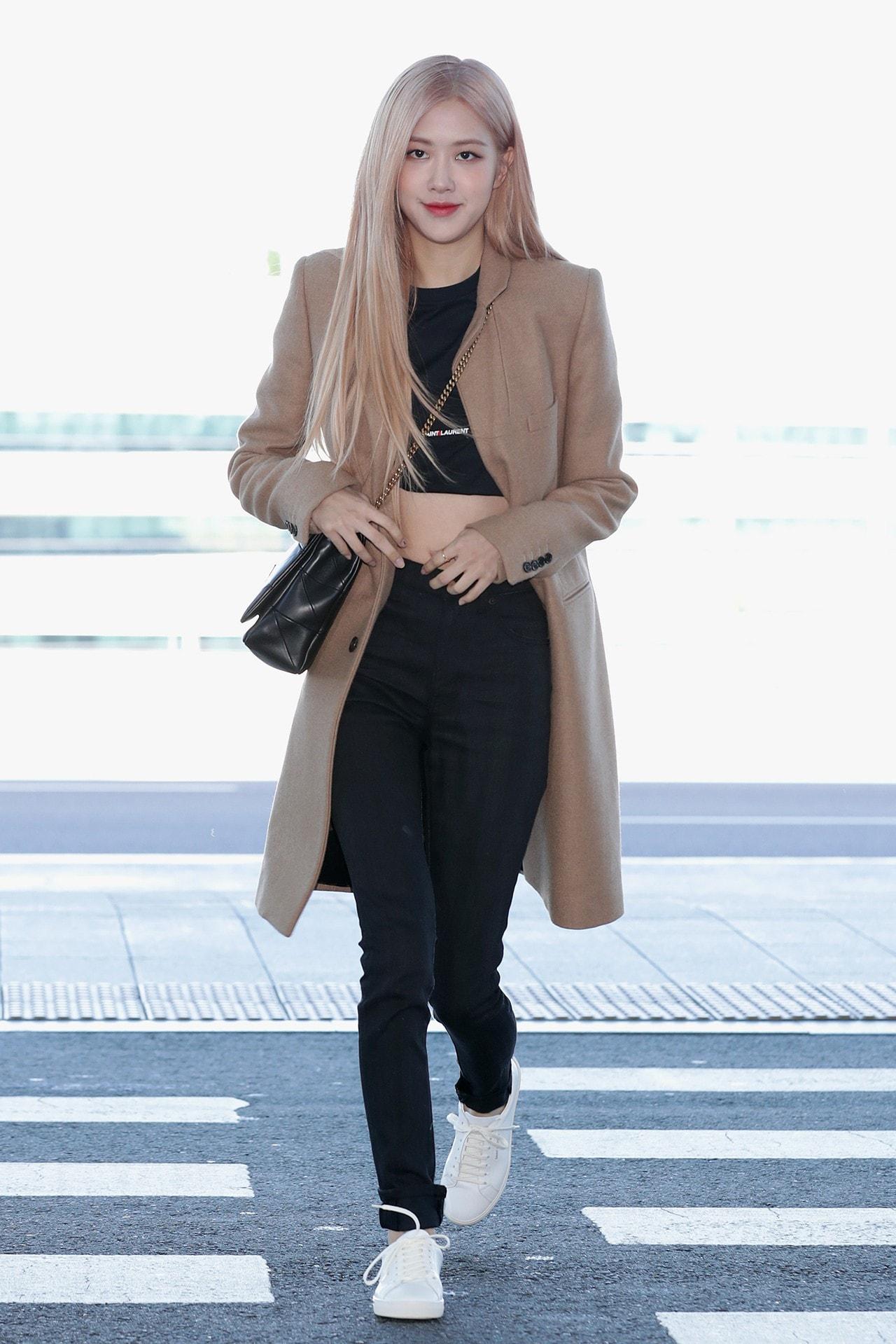 BLACKPINK Rosé Fashion Style K-Pop Girl Group Celebrity Singer Blonde Hair Black Valentino Dress Fashion Show Beijing China