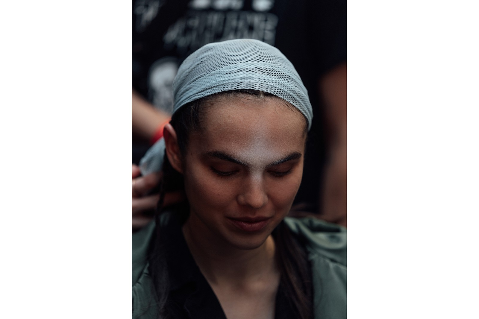 dion lee new york fashion week nyfw fall winter collection backstage makeup hair