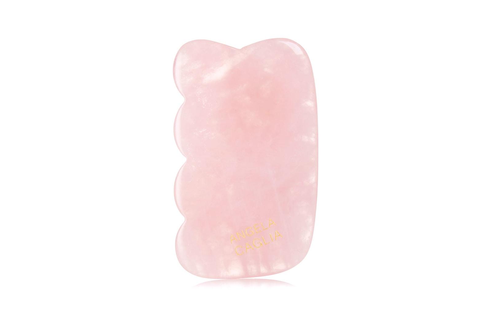 gua sha facial tool skincare beauty rose quartz
