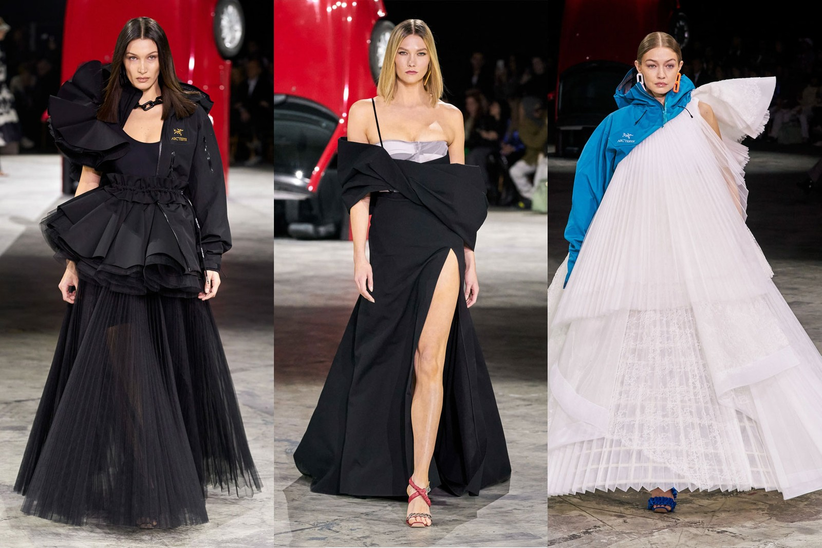 off white virgil abloh paris fashion week runway gigi bella hadid karlie kloss