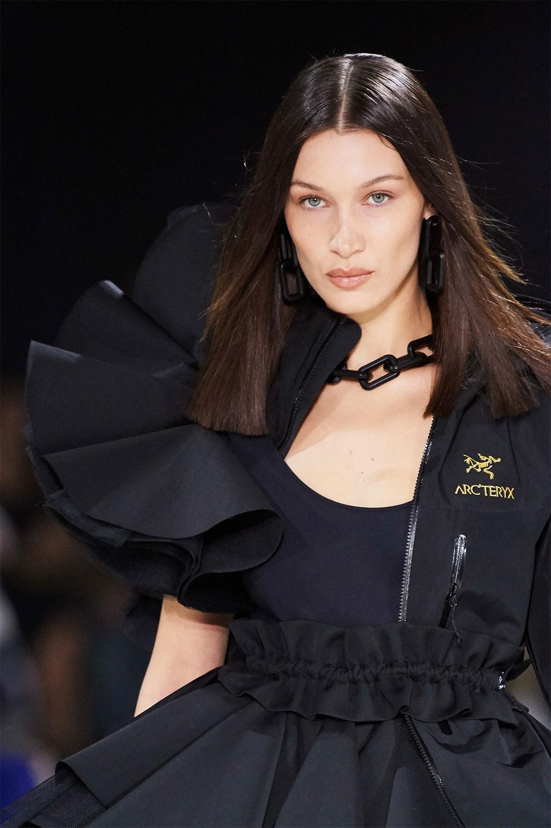 off-white virgil abloh fall winter paris fashion week pfw runway nike air jordan 4 collaboration gigi bella hadid