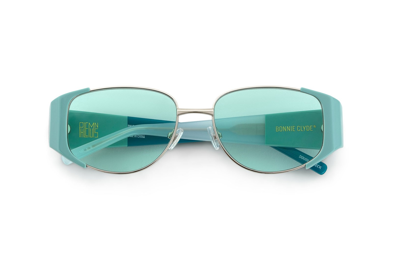 PHLEMUNS x Bonnie Clyde Sunglasses Double Check Teal Pheal