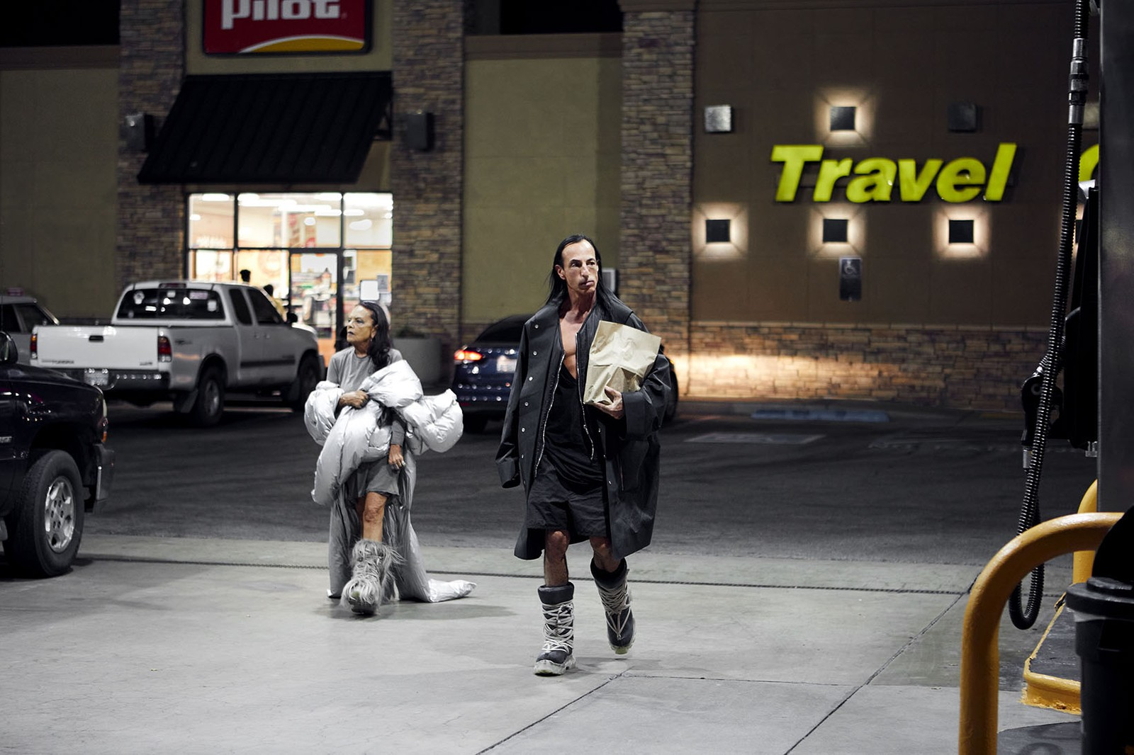 Rick Owens x Moncler Collaboration Collection Campaign Michèle Lamy