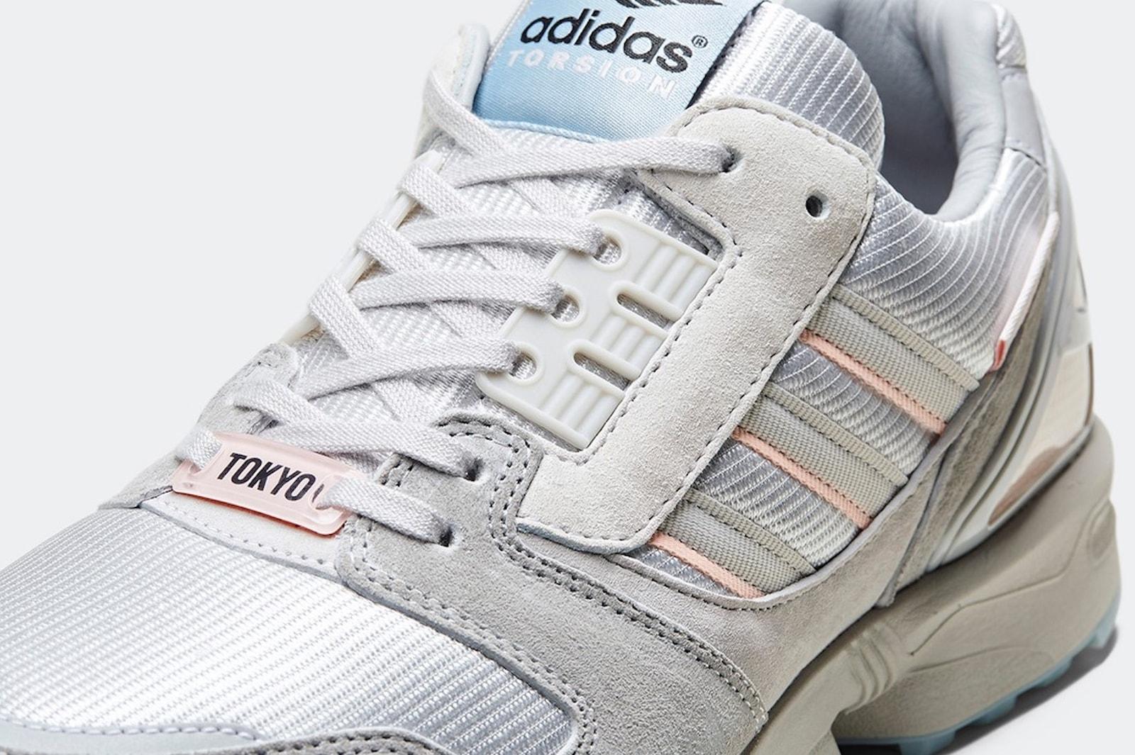 adidas zx 8000 sneakers kirschblutenallee pack pink blue grey release hanami yozakura festival sneakerhead footwear shoes