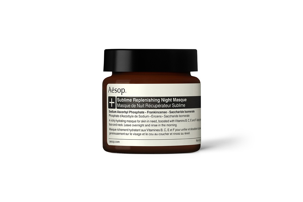 Aesop Sublime Replenishing Night Masque Skincare Beauty Product Skin Care+ Face Mask Campaign