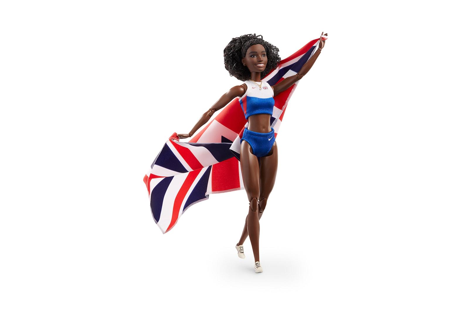 barbie dina asher smith shero doll international womens day dream gap project female empowerment athlete world champion