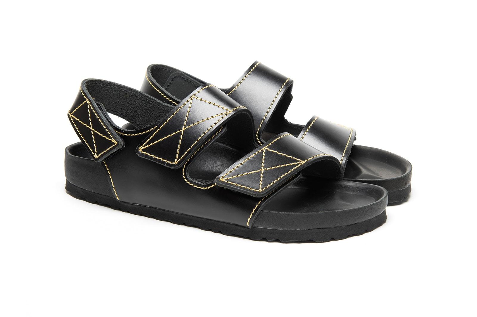 birkenstock proenza schouler juergen teller peter miles collaboration arizona milano sandals unisex shoes footwear yellow white black silver