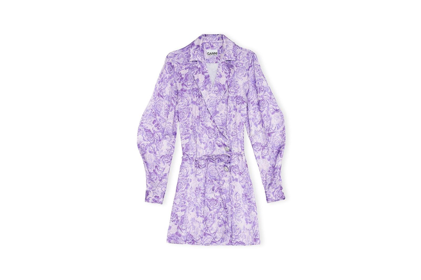 GANNI Spring/Summer 2020 Collection Campaign Tiger Stripe Print Dress