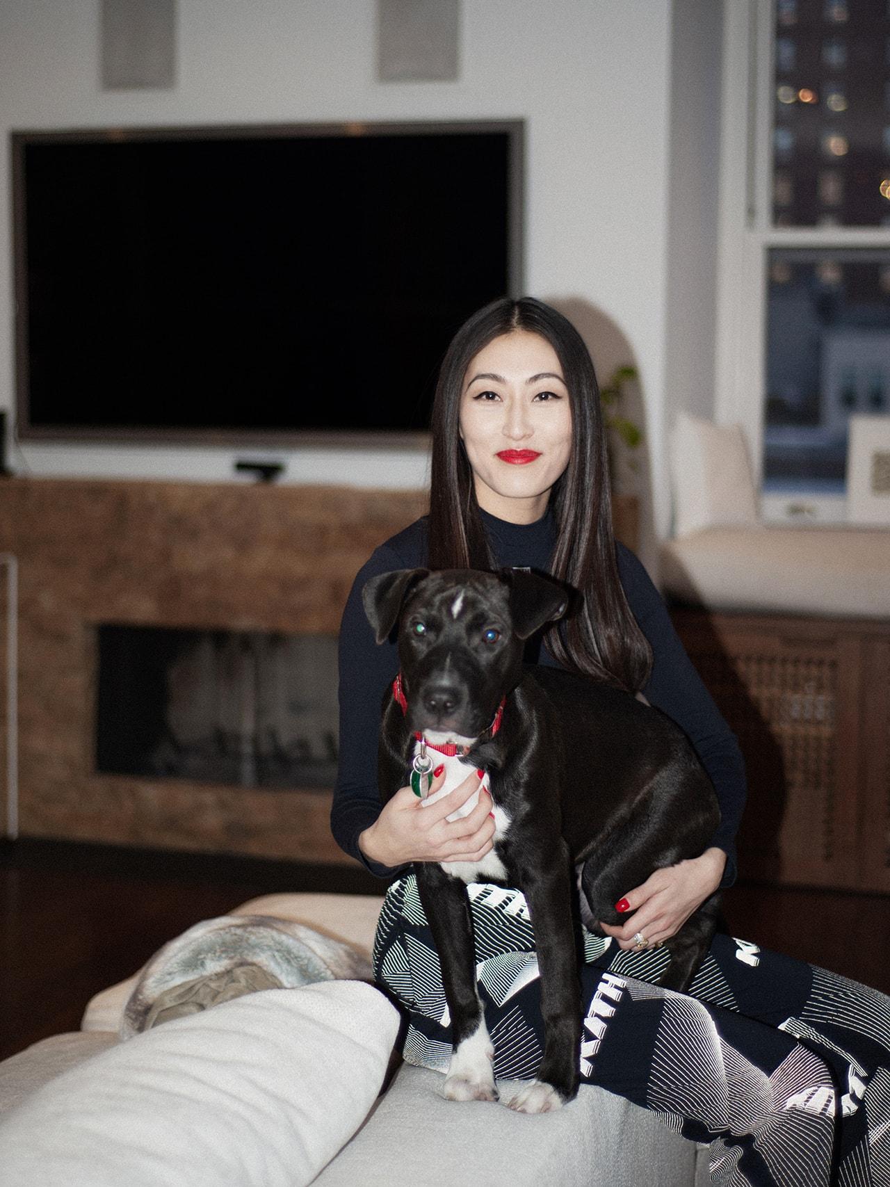 Jackie Kim KITH Women Director Home Book Shelf Decor Leggings Red Lipstick Estee Lauder