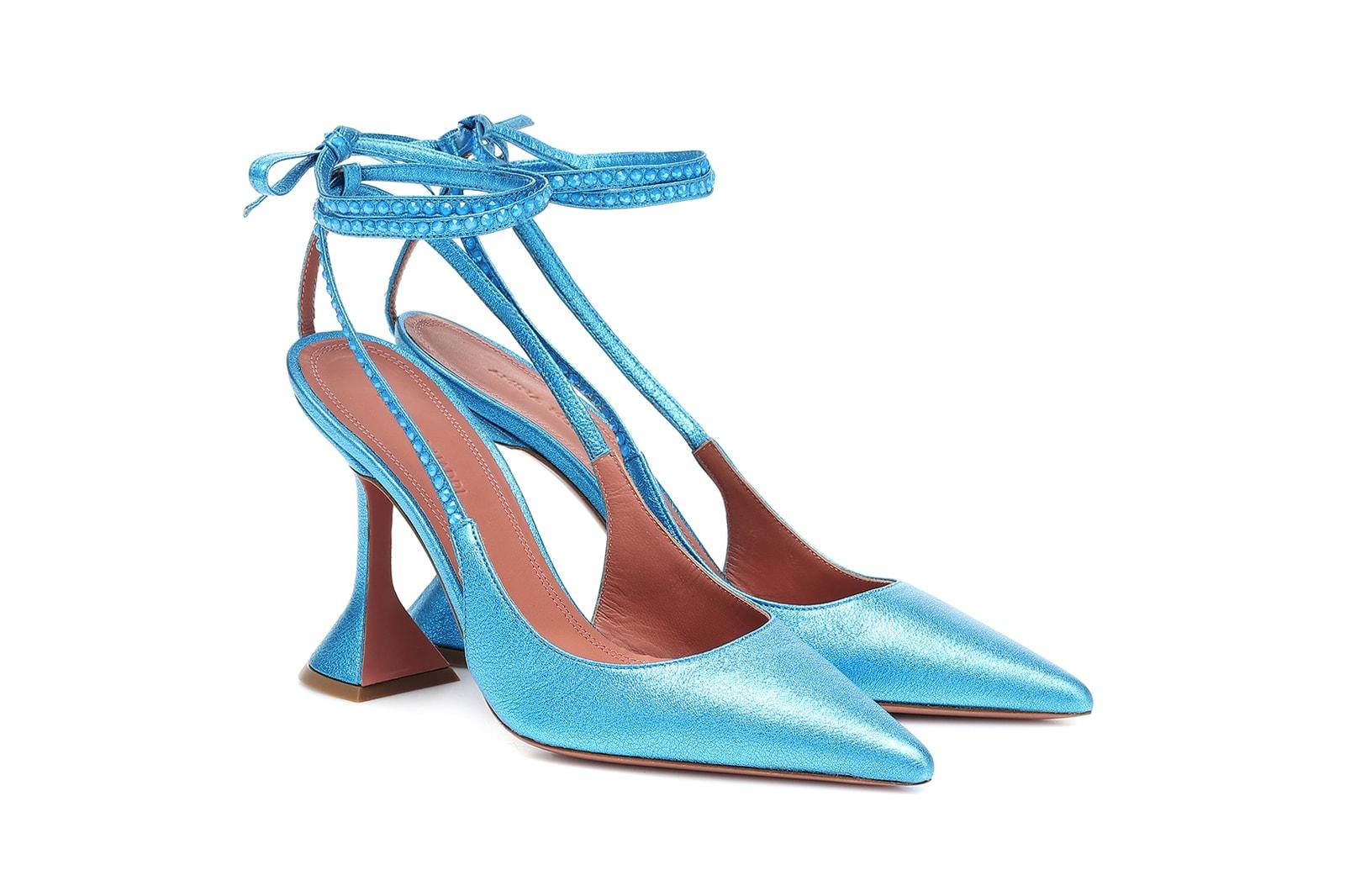 Amina Muaddi x Mytheresa Capsule Collection Heels