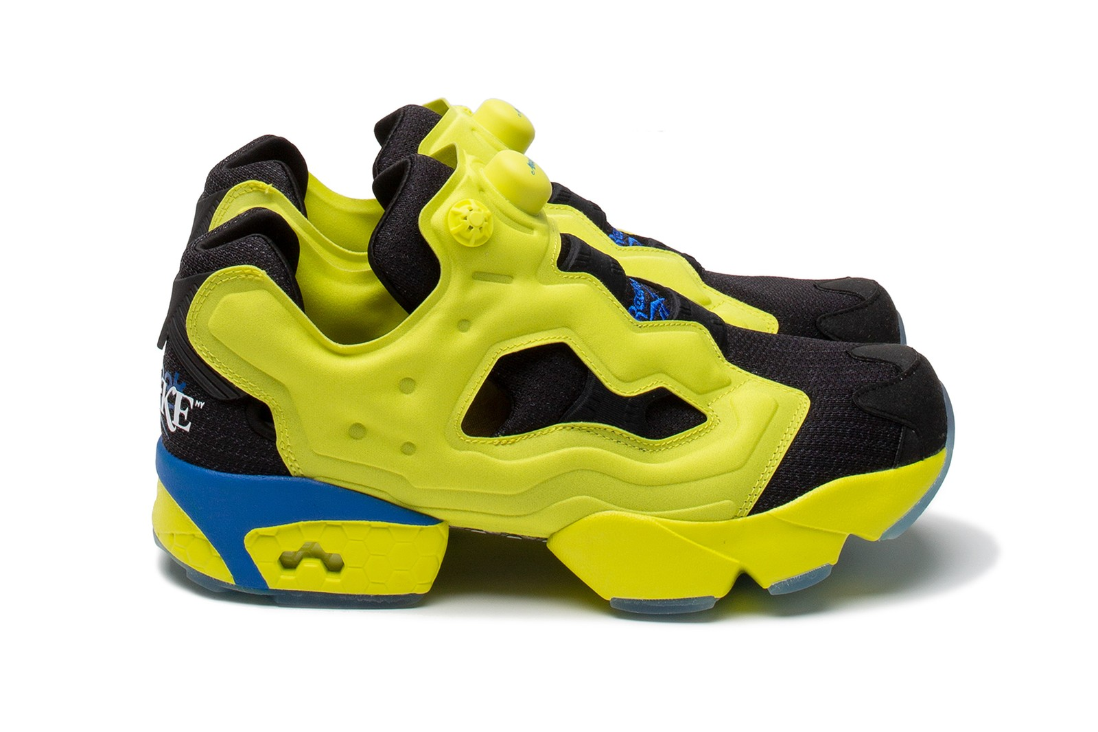 reebok awake ny collaboration workout lo plus instapump fury sneakers white neon yellow blue black footwear shoes sneakerhead