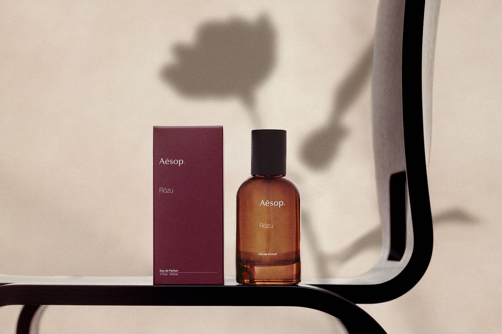 aesop rozu perfume fragrance eau de parfum floral woody sandalwood vetiver ylang jasmine rose review