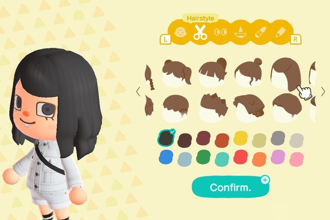 Animal Crossing New Horizons acnh Hairstyle Color Guide Nook Stop Miles