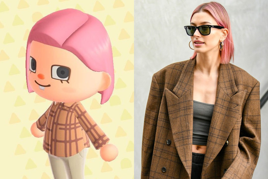 Animal Crossing New Horizons ACNH Hairstyle Color Nintendo Switch Hailey Bieber Pink Bob