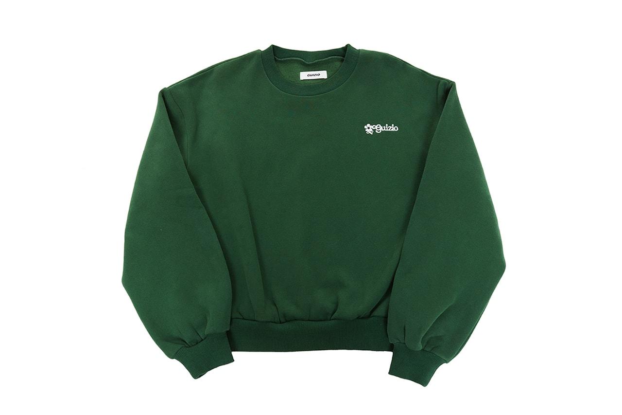 Danielle Guizio Floral Logo Crewneck Sweatshirt Sweater Shorts Sweatshorts Green New Balance Sneakers