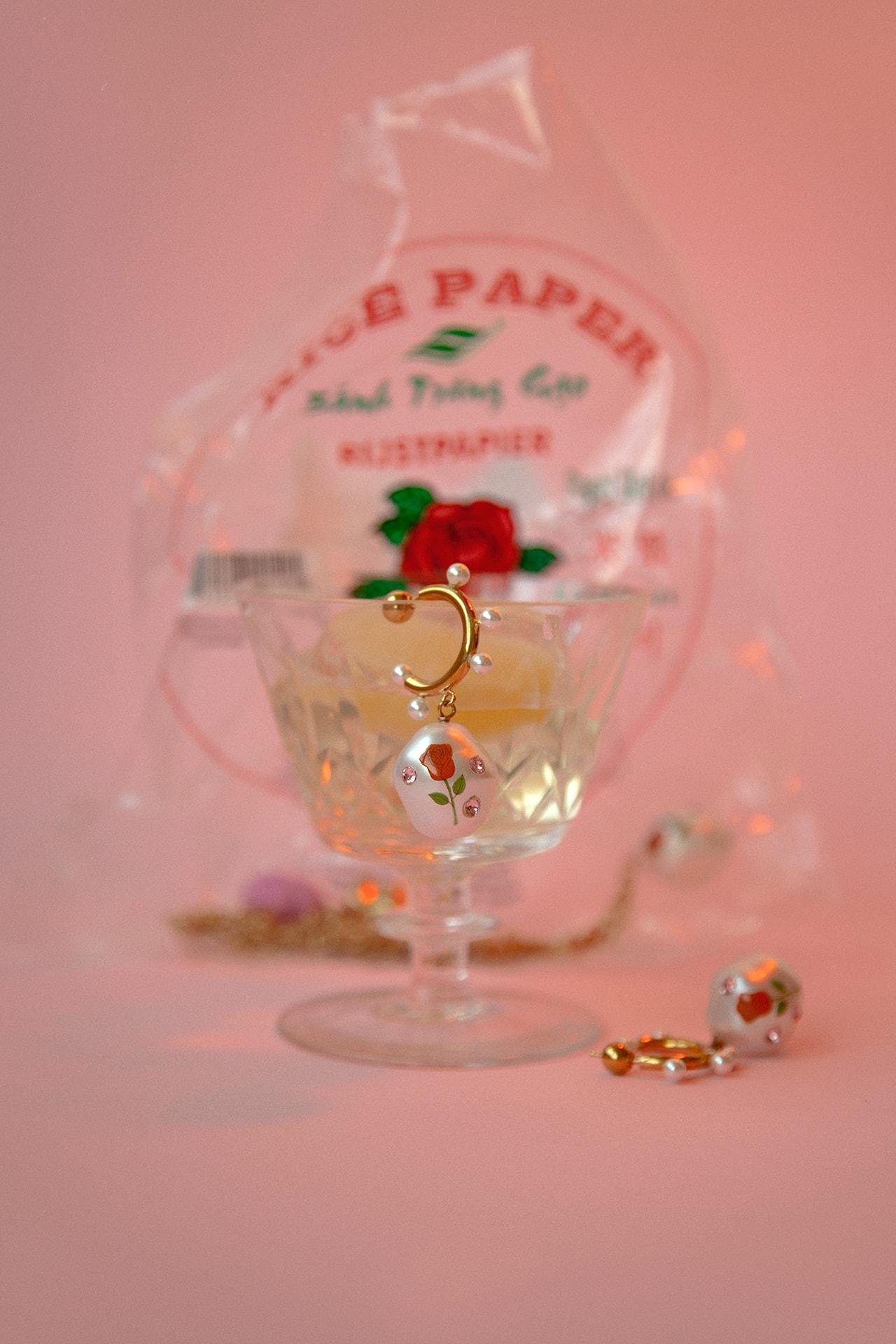 Safsafu Safu Seghatoleslami Gummy Bear Jewelry Brand Gold Earring Campaign Pink Eyeshadow Apple Freckles Model Lookbook