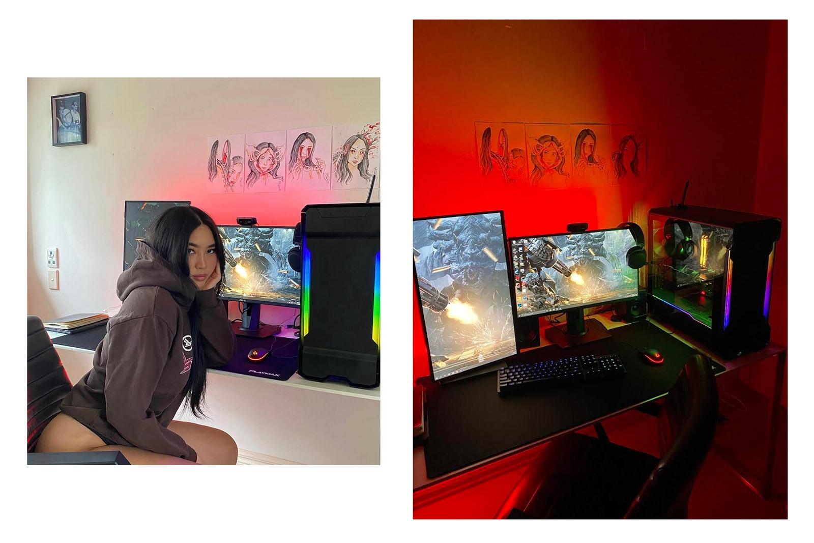 PRIX Workshop Founder Designer Esther Ng Female Gaming Setup