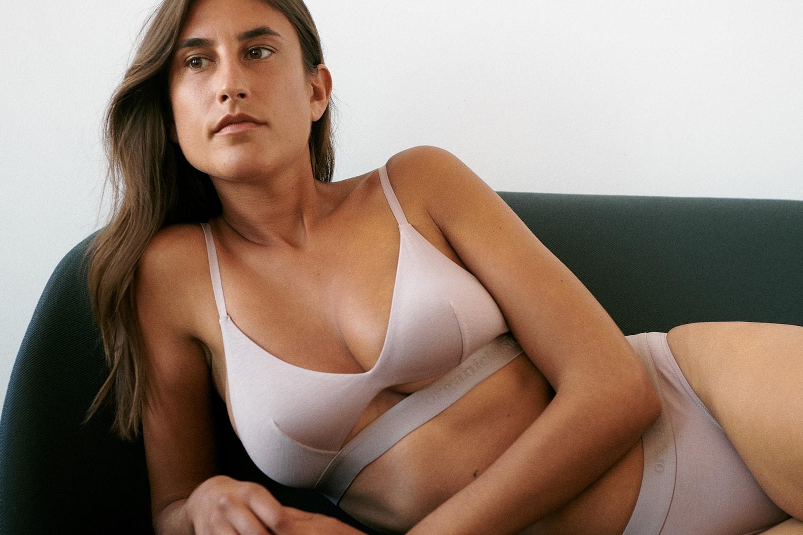 Best Sustainable Underwear Lingerie Eco-friendly Organic Basics Pink Bra Briefs