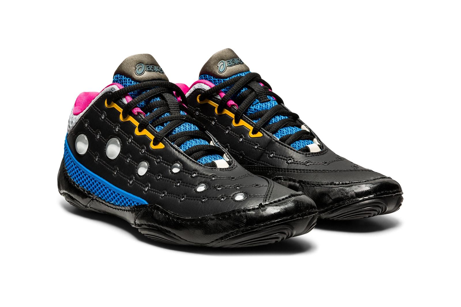 asics kiko kostadinov collaboration gessirit 2 womens sneakers black yellow green blue shoes footwear sneakerhead