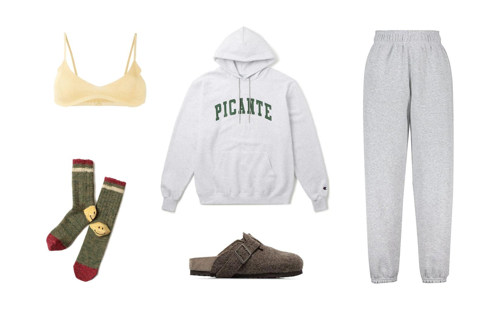 Brandy Melville Rosa Sweatpants Soho House Memes Picante Logo Hoodie Kapital Knit Socks Rick Owens x Birkenstock Sandals Jacquemus Knit Bralette