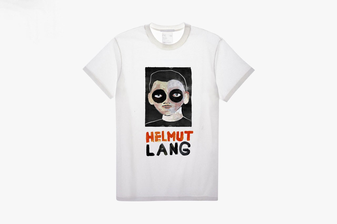 Helmut Lang T-Shirt Design Contest Winners Face Mask Painting