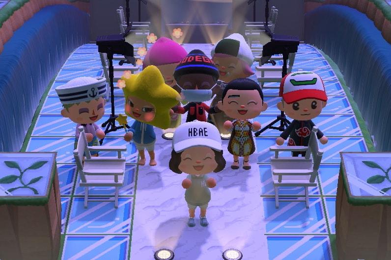 Hypebae Animal Crossing Fashion Show Runway Online Virtual Event Nintendo Switch