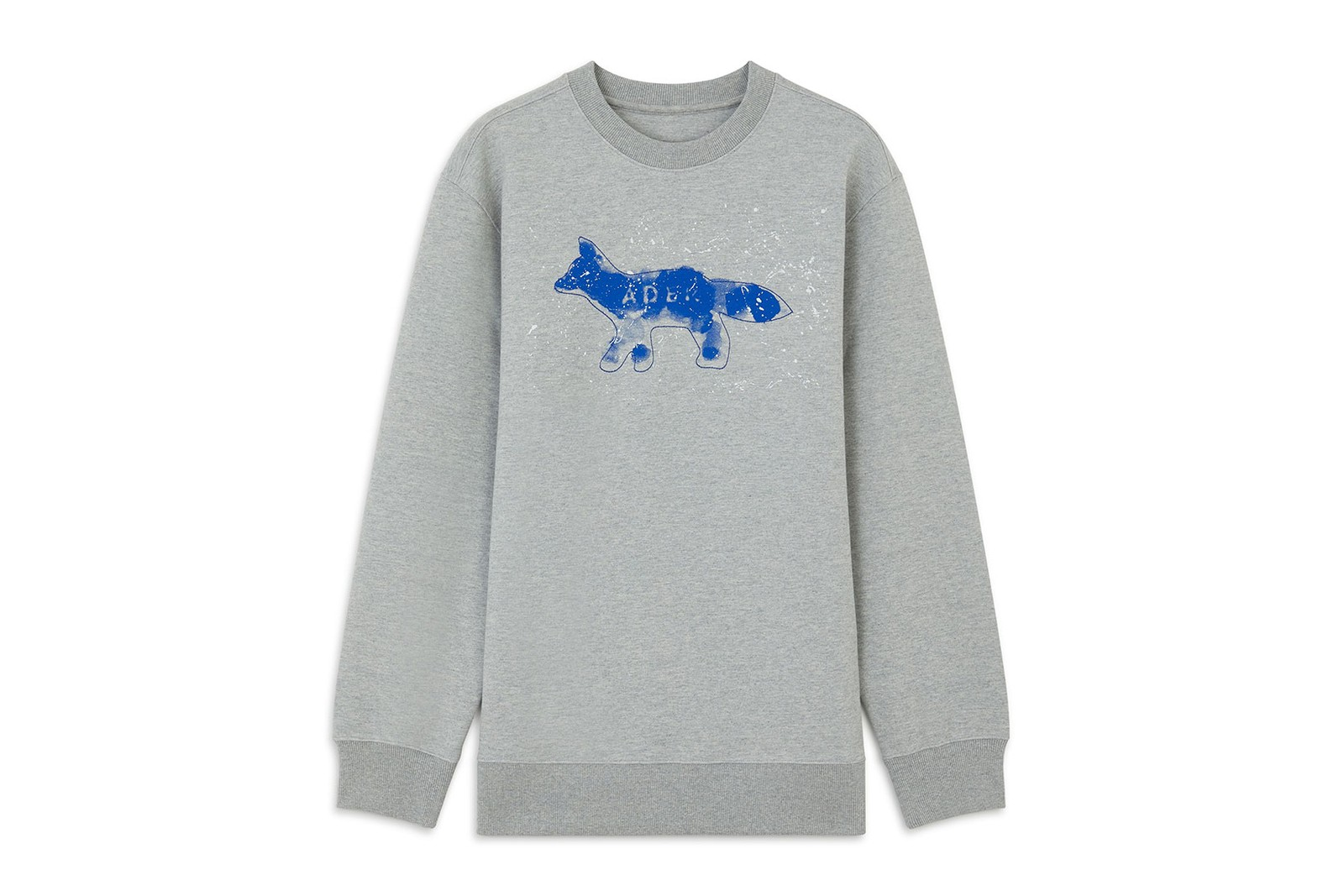 ader error maison kitsune the bluest fox collaboration campaign tees sweatshirts caps jeans