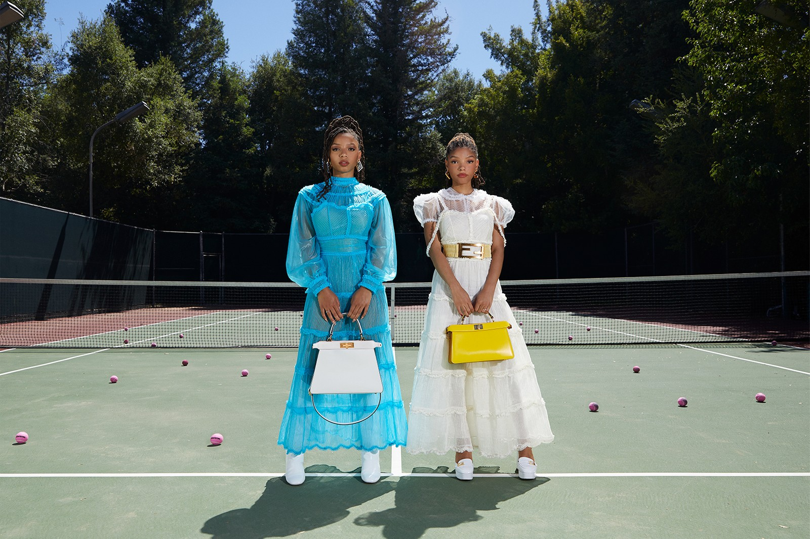 fendi chloe halle bailey collaboration me and my peekaboo designer bag campaign