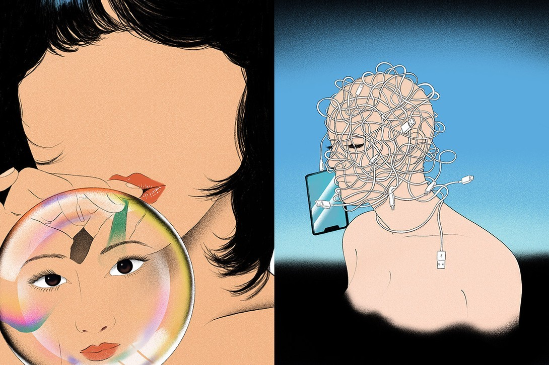 miki kim korean tattooist illustrator painting portrait art
