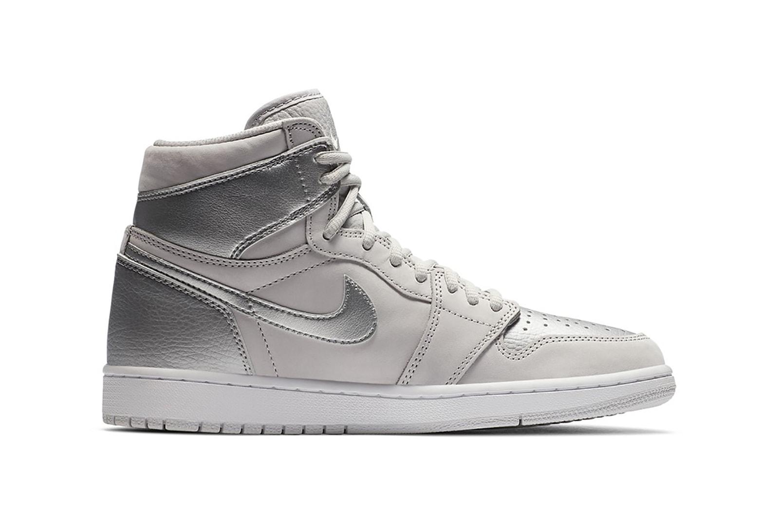 nike air jordan 1 co jp japan metallic silver sneakers colorway shoes footwear sneakerhead