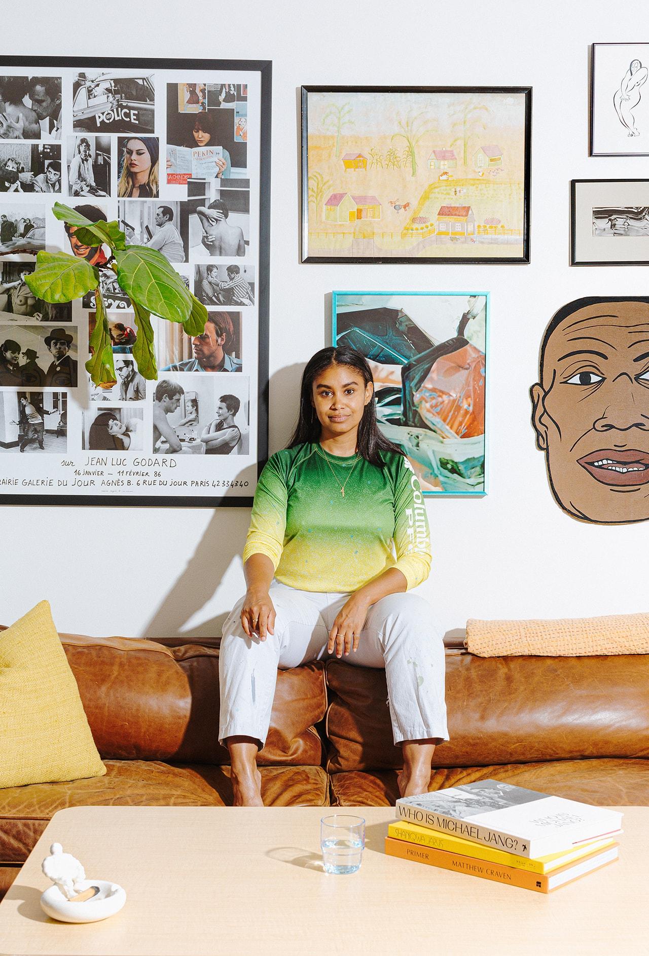 YOWIE Founder Shannon Maldonado Home Philadelphia Living Room Poster Art Books House Plants Planters Shelf