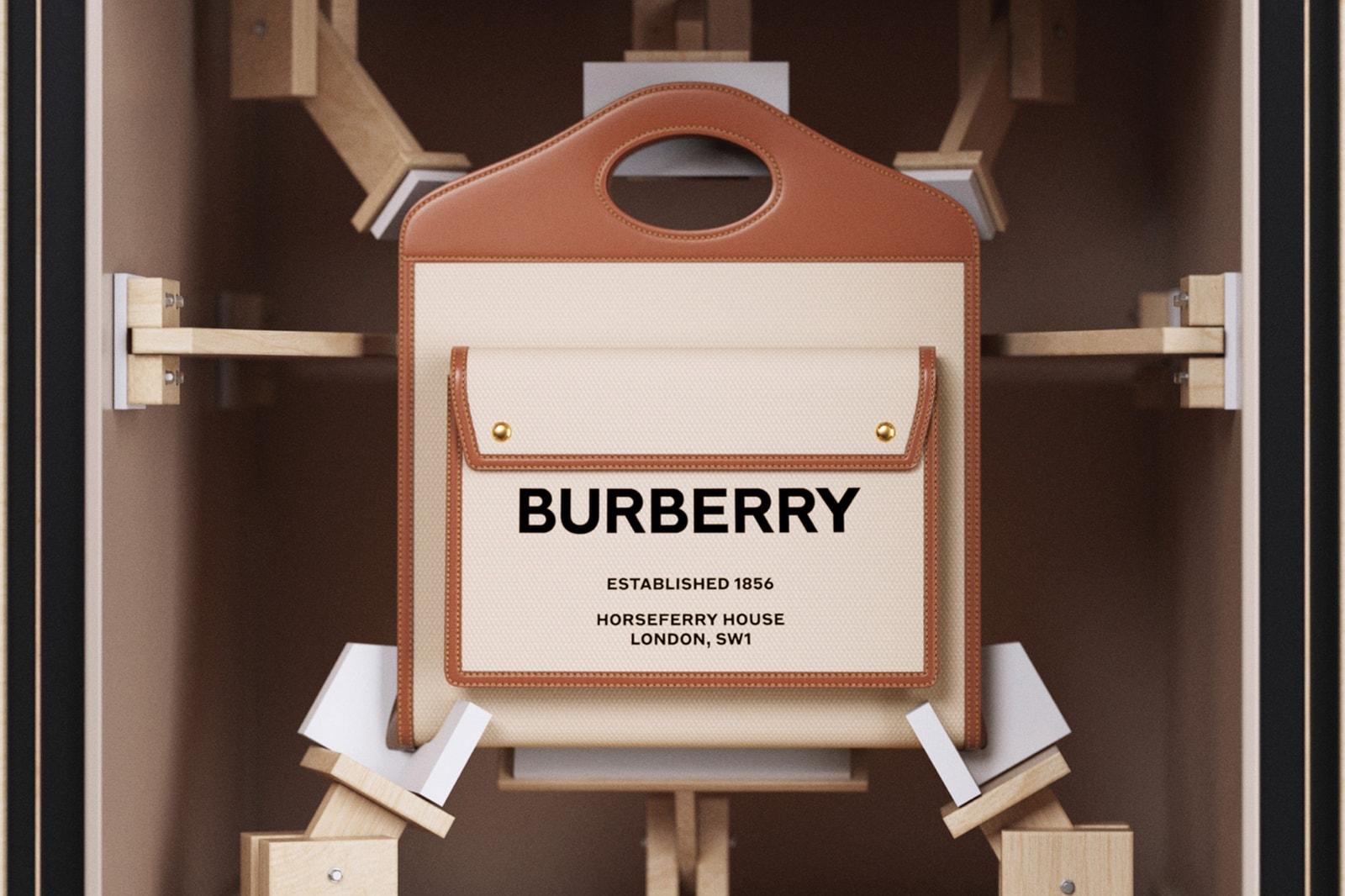 burberry pocket bag bella hadid campaign inez and vinoodh monogram canvas designer purses