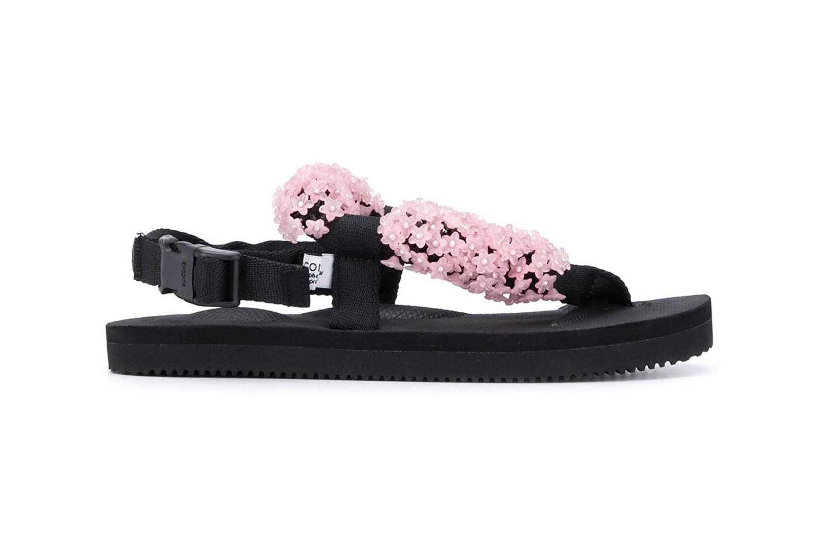 Cecilie Bahnsen x Suicoke Kat Floral Sandals Pink