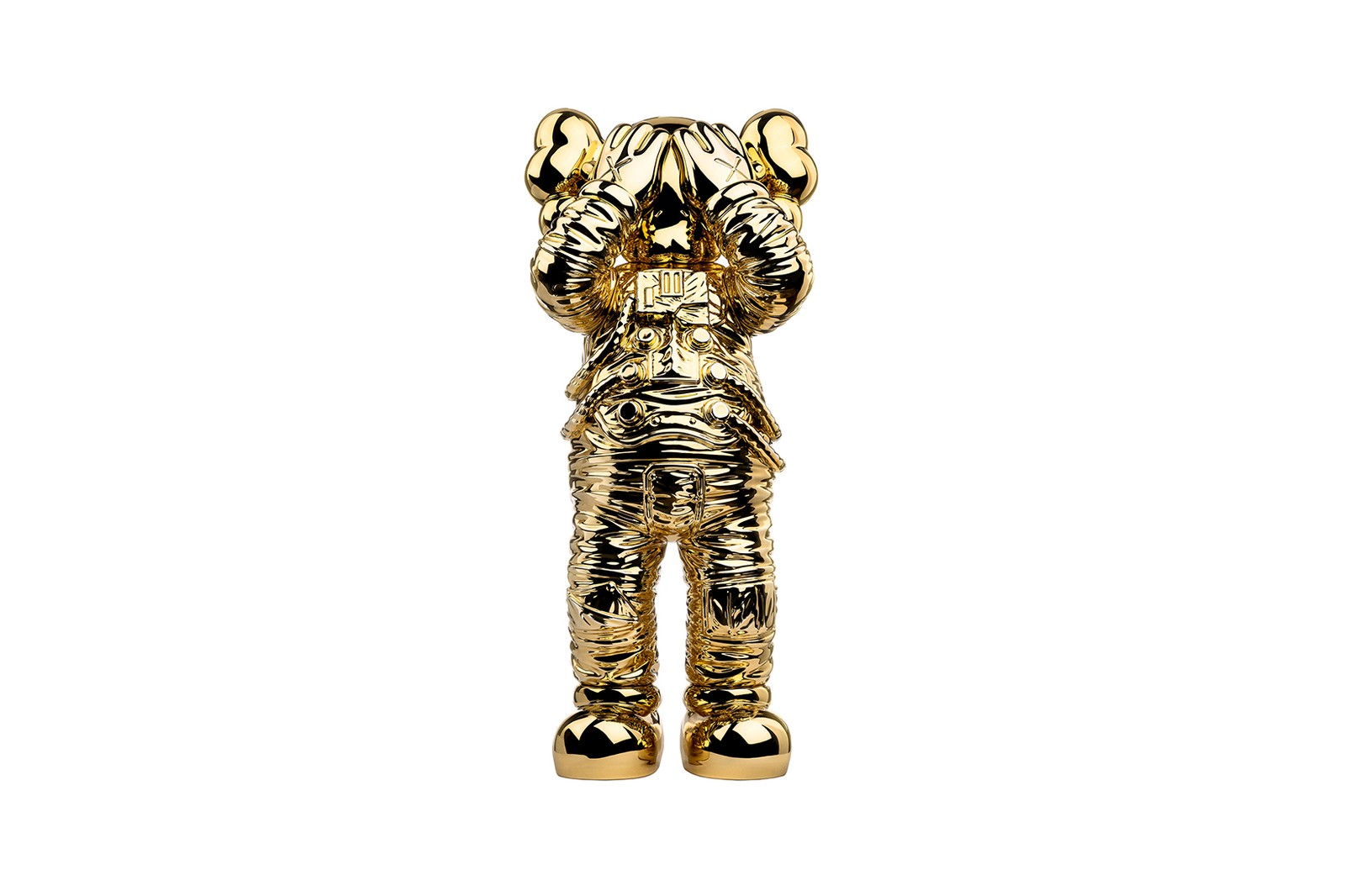 kaws holiday space allrightsreserved collaboration companion figure collectibles gold sculpture