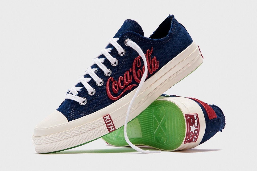 kith coca cola converse chuck 70 fifth collaboration release info pendleton mitchell and ness varsity jackets sweaters hats