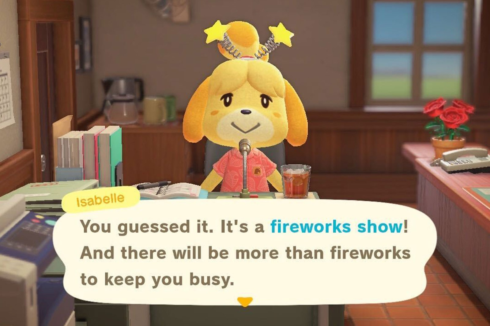 nintendo animal crossing fireworks update sunday how to isabelle
