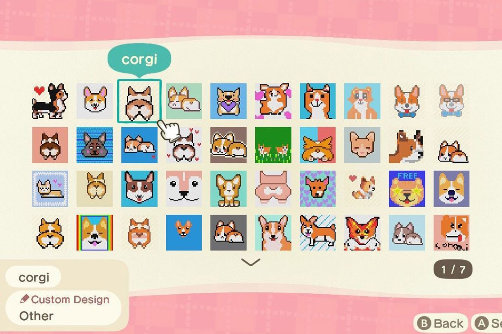 nintendo animal crossing update search custom designs corgi dog puppy