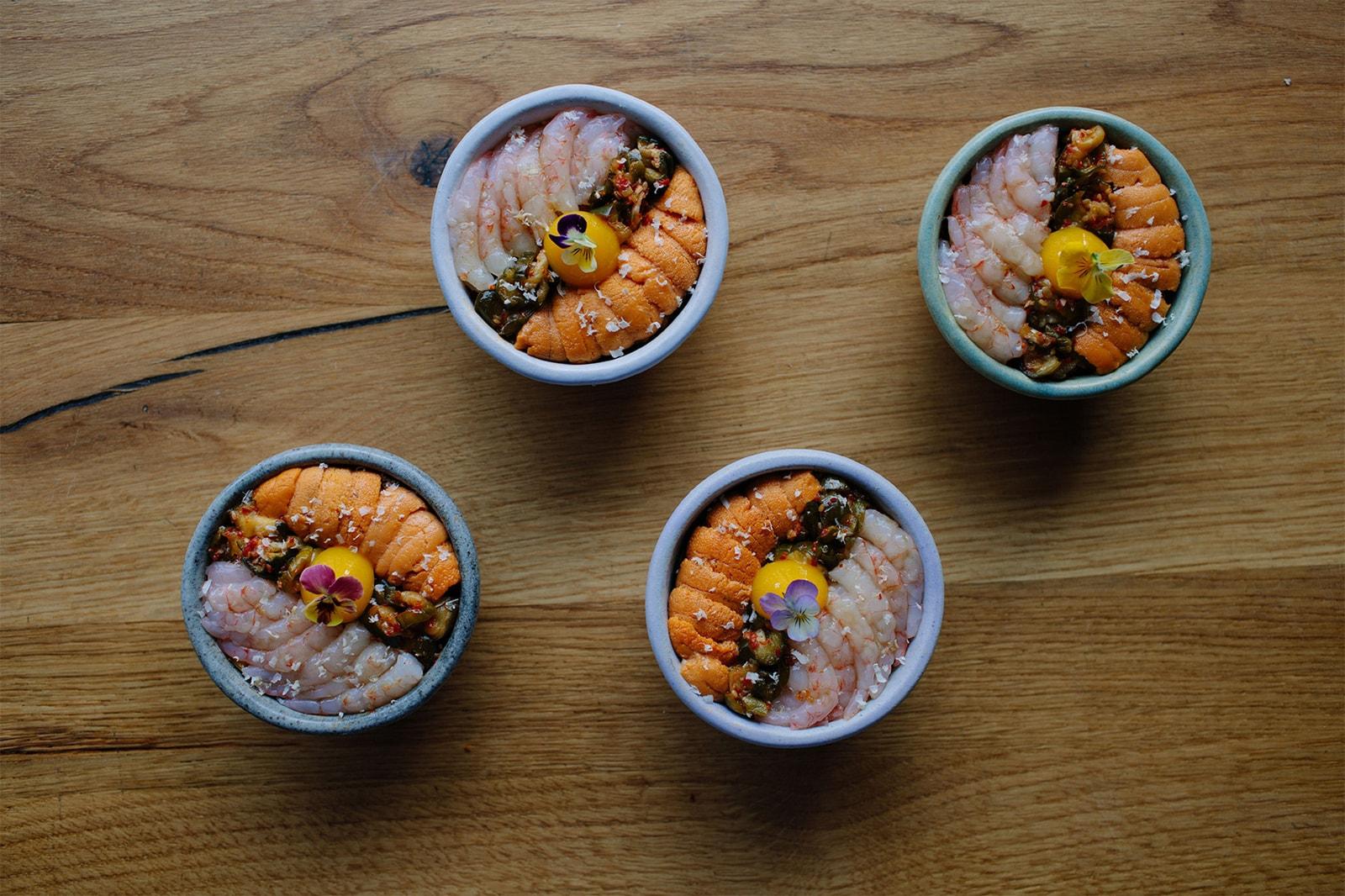 nyc new york best korean restaurants oiji rice bowl uni egg shrimp prawn food