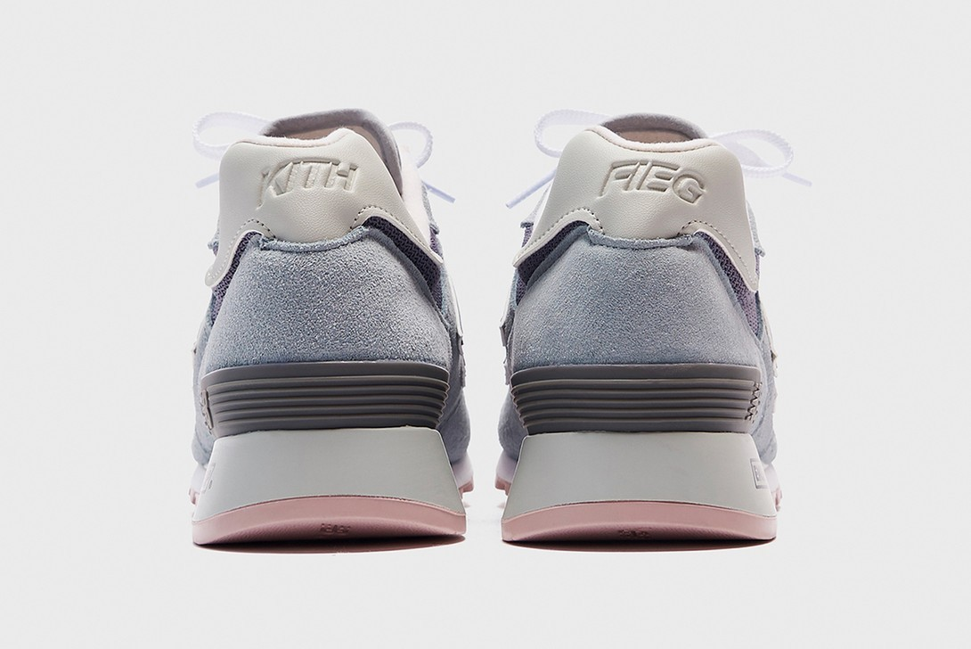 kith new balance ronnie fieg rc 1300cl capsule collaboration pastel pink grey steel blue suede sneakers release info
