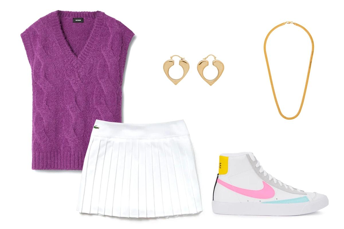 Nike Court Victory Women's Tennis Skirt White Black Swoosh