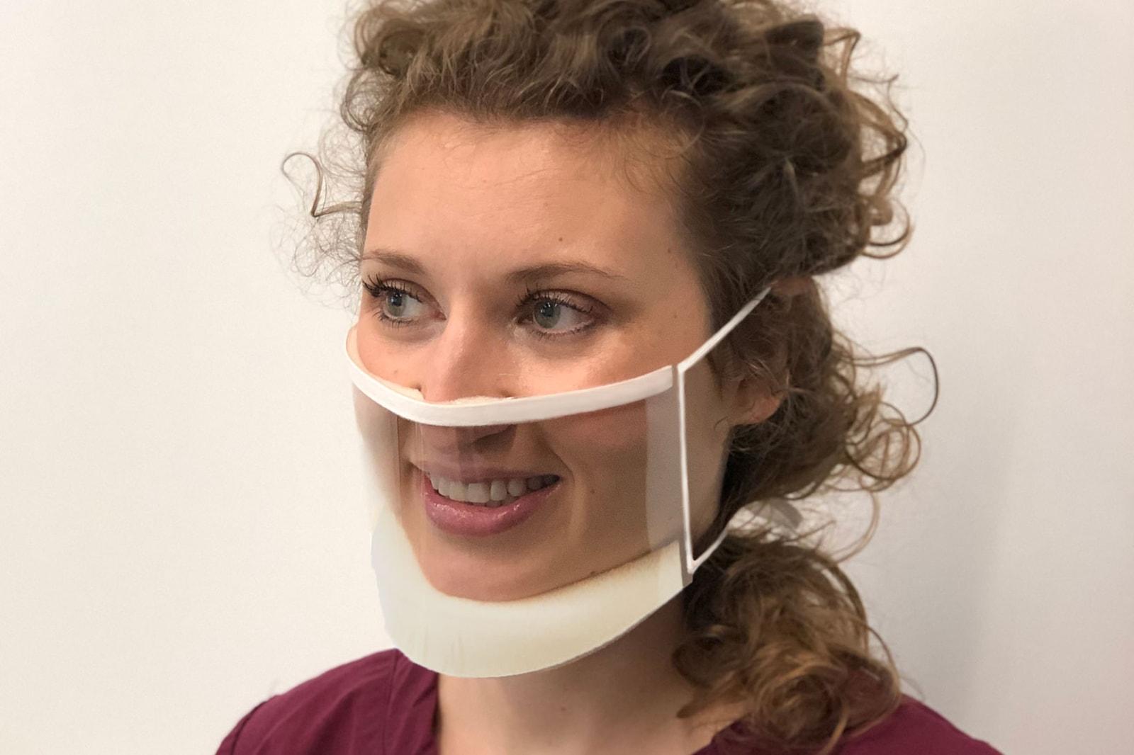 SEEUS95 Clear Face Mask Silicone Self Adhesive Coronavirus COVID-19