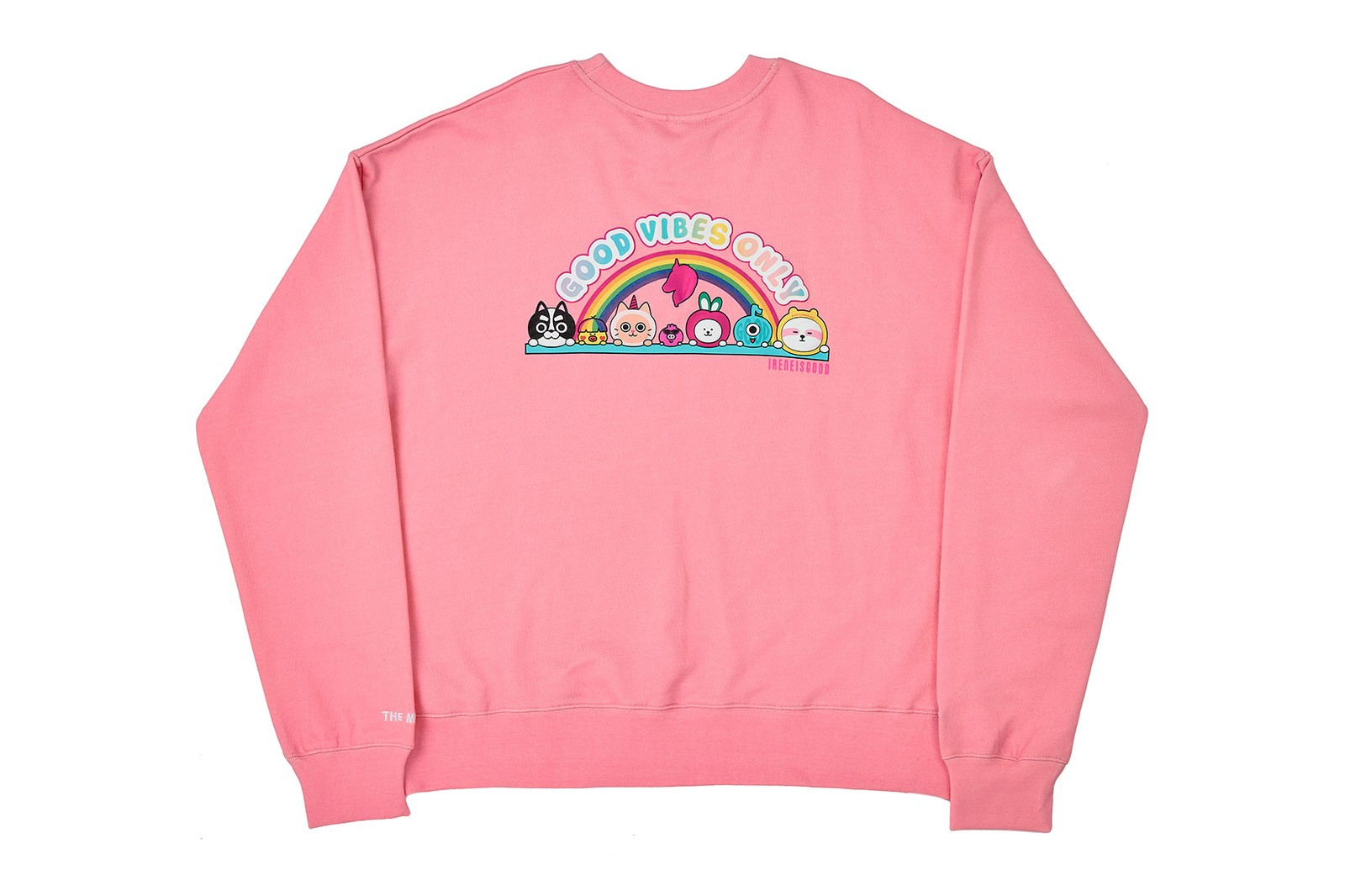 irene kim ireneisgood label tiktok friends character collaboration rainbow tie-dye unicorns hoodies t-shirts sweatshirts beanies