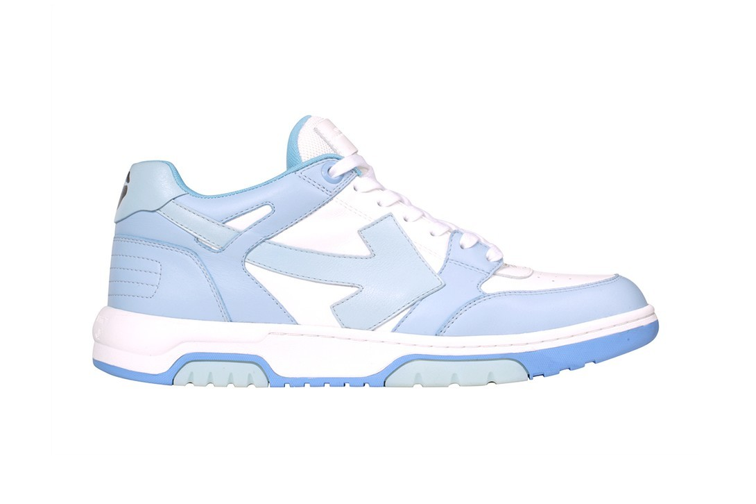 off-white out of office ooo new sneakers collegiate pale blue tan green red release virgil abloh juergen teller campaign